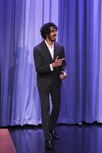 THE TONIGHT SHOW STARRING JIMMY FALLON -- Episode 0620 -- Pictured: Actor Dev Patel arrives on February 8, 2017 -- (Photo by: Andrew Lipovsky/NBC/NBCU Photo Bank via Getty Images)