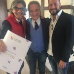Da sx - Roberto Alessi (direttore Novella 2000) con Luciano Paulillo (presidente Vebo) e Marco Paulillo (resp tecnico Vebo)