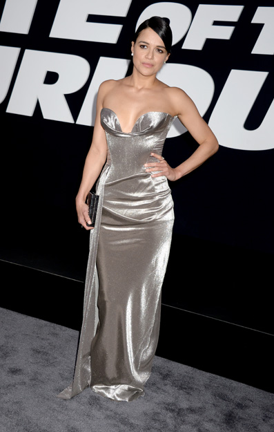 Michelle Rodriguez attending the world premiere of The Fate Of The Furious on April 8, 2017 at Radio City Music Hall in New York City, NY, USA. Photo by Dennis Van Tine/ABACAPRESS.COM AbacaPress/LaPresse Only Italy © 588728