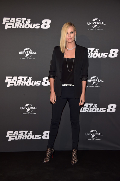 "PARIS, FRANCE - APRIL 05:  Charlize Theron attends ""Fast & Furious 8"" Premiere at Le Grand Rex on April 5, 2017 in Paris, France.  (Photo by Pascal Le Segretain/Getty Images)"