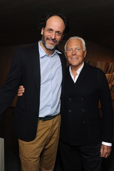 Luca Guadagnino e Giorgio Armani