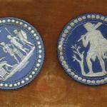 Bottoni cammeo, Manifattura Wedgwood  Inghilterra, sec. XVIII, fine Jasperware. Firenze, Museo Stibbert