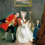 Dama al filatoio, Francesco Liani, sec. XVIII, terzo quarto. Olio su tela. Firenze, Collezione Giovanni Pratesi