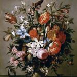 Natura morta con vaso di fiori, Pieter Caastels III 1730-1740. Olio su tela. Firenze, Galleria Tornabuoni Arte