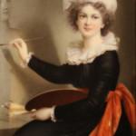 Autoritratto, Élisabeth Vigée-Le Brun 1790 ca.; porcellana dipinta. Firenze,  Eredi Antonio Esposito – Galleria Antiquaria