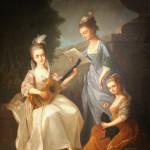 Concerto di giovani dame Pittore fiorentino, sec. XVIII, seconda metà olio di tela, Firenze, Eredi Antonio Esposito – Galleria Antiquaria