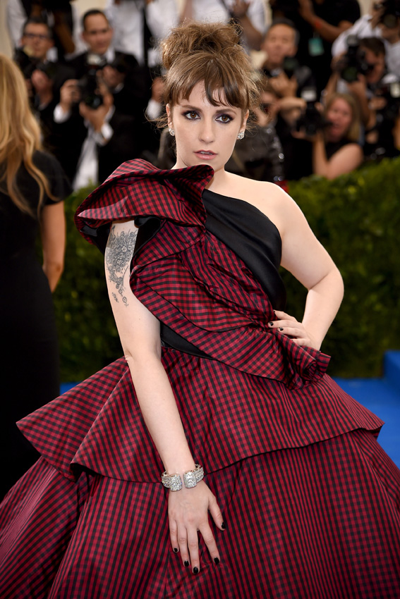 "NEW YORK, NY - MAY 01: Lena Dunham attends the ""Rei Kawakubo/Comme des Garcons: Art Of The In-Between"" Costume Institute Gala at Metropolitan Museum of Art on May 1, 2017 in New York City. (Photo by Dimitrios Kambouris/Getty Images)"