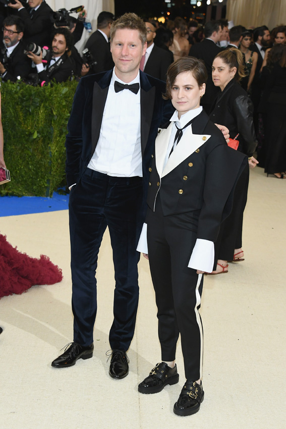 "NEW YORK, NY - MAY 01: Christopher Bailey and Christine and the Queens attend the ""Rei Kawakubo/Comme des Garcons: Art Of The In-Between"" Costume Institute Gala at Metropolitan Museum of Art on May 1, 2017 in New York City. (Photo by Dia Dipasupil/Getty Images For Entertainment Weekly)"