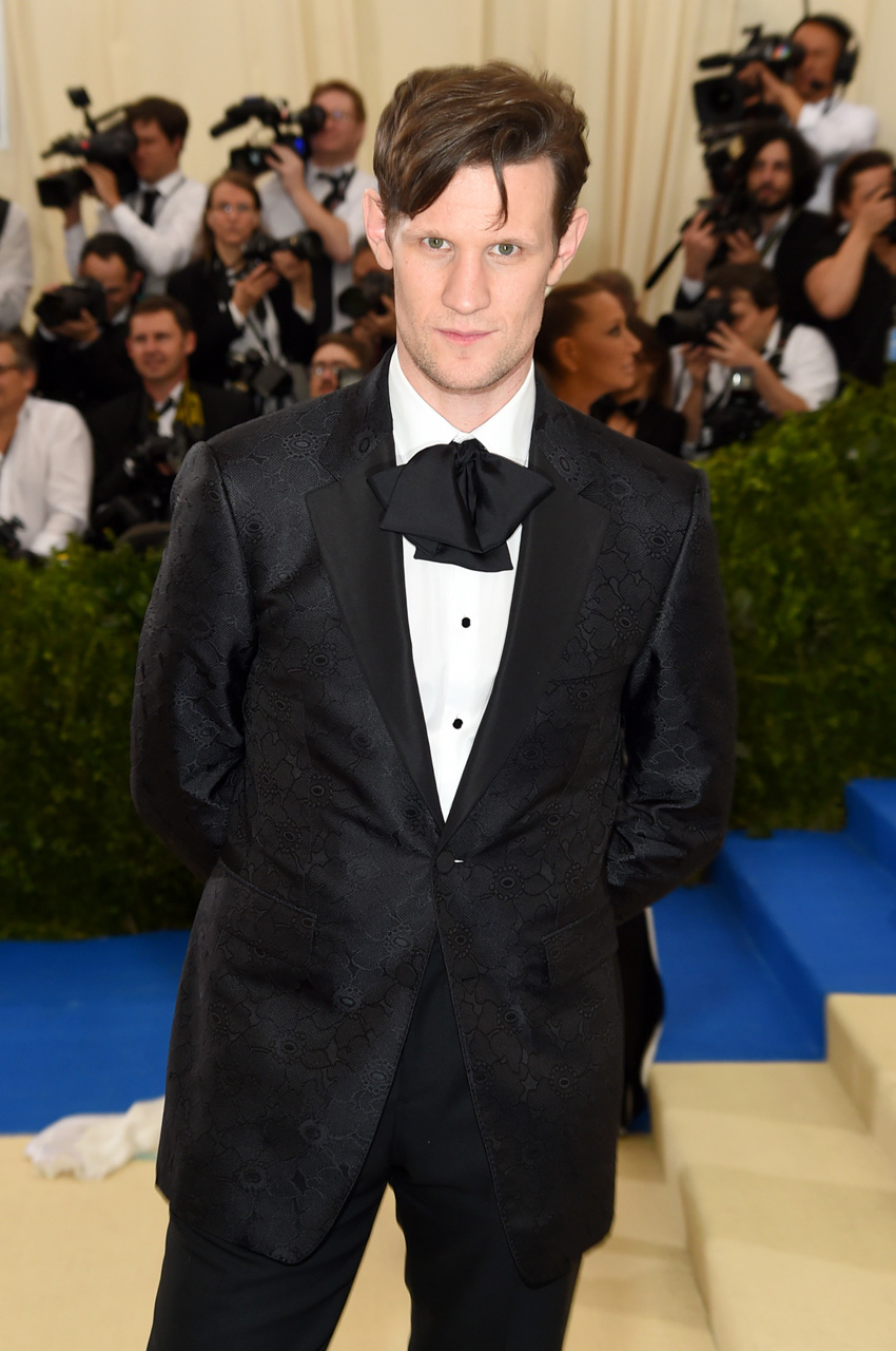 "NEW YORK, NY - MAY 01: Matt Smith attends the ""Rei Kawakubo/Comme des Garcons: Art Of The In-Between"" Costume Institute Gala at Metropolitan Museum of Art on May 1, 2017 in New York City. (Photo by Jamie McCarthy/FilmMagic)"