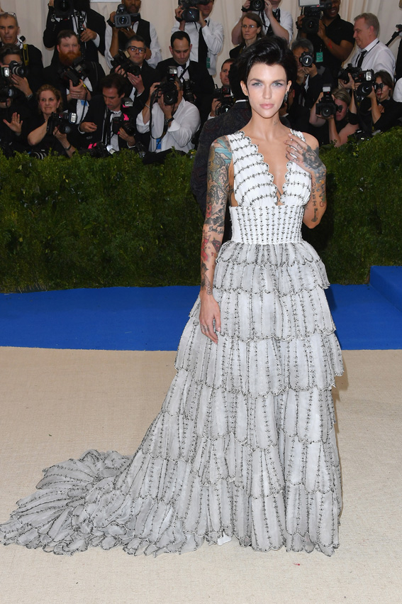 "NEW YORK, NY - MAY 01: Ruby Rose attends the ""Rei Kawakubo/Comme des Garcons: Art Of The In-Between"" Costume Institute Gala at Metropolitan Museum of Art on May 1, 2017 in New York City. (Photo by George Pimentel/WireImage)"