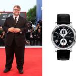 """Il regista messicano Guillermo del Toro in attesa dell'anteprima del suo film """"The Shape of Water"""" ha indossato un Montblanc modello 4810 Automatic Chronograph Ident: 115123."""