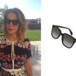 Lo stesso modello di occhiali da sole neri di Alexander McQueen sfoggiati dalla Mastronardi sono stati indossati anche dall'attrice italiana Claudia Gerini.